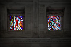 Stained glass windows of Fatima Royalty Free Stock Images