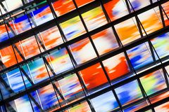 Stained glass windows of the Media Park in Hilversum Stock Image