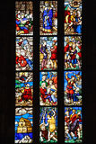 Stained glass windows in Milan Duomo Royalty Free Stock Photo