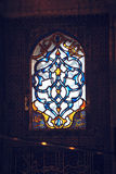 Stained glass windows in the New Mosque in Istanbul, Turkey Royalty Free Stock Photo