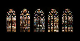Stained glass windows Royalty Free Stock Photos