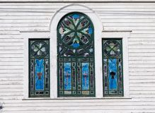 Stained glass windows. An old church in New York State with some vintage stained glass windows Royalty Free Stock Photo