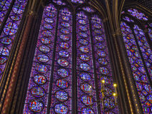 Stained glass windows, Paris Royalty Free Stock Image