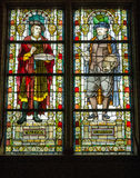 Stained glass windows at Rijksmuseum Amsterdam Royalty Free Stock Photos