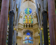 Stained glass windows of Sagrada Familia Royalty Free Stock Photography