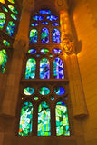 Stained glass windows -Sagrada Familia -Barcelona Stock Images