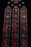 Stained glass windows of Saint Gatien cathedral in Tours Royalty Free Stock Photography