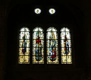 Stained Glass Windows Saint-Malo Cathedral--  France Royalty Free Stock Photo