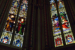Stained-glass windows in Saint Pierre cathedral Stock Photography
