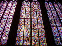 Stained glass windows, Sainte-Chapelle, Paris. Stained glass windows at the Sainte-Chapelle, Paris, France Royalty Free Stock Photography