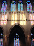 Stained-glass windows at san sebastian Royalty Free Stock Photography