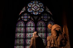 Notre Dame Catholic Cathedral Stock Images