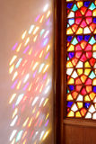 Stained glass Windows and the shutters of the middle ages Stock Photo