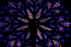 Stained glass windows. St.Patrick's Cathedral Stock Photos