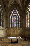 Stained Glass Windows - Wells Cathedral - England Stock Image