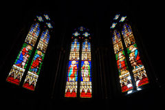 Stained-glass windows stock photos