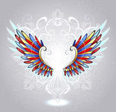 Stained glass wings Stock Photo