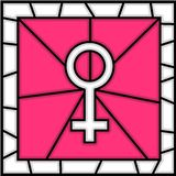 Stained glass: women symbol Stock Photography