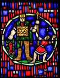 Stained Glass in Worms - David and Goliath Stock Photos