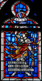 Stained Glass in Worms - French Revolution Royalty Free Stock Photos