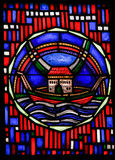 Stained Glass in Worms - Noah& x27;s Ark Stock Photos