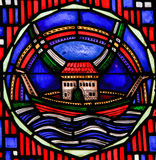 Stained Glass in Worms - Noah& x27;s Ark Stock Photography