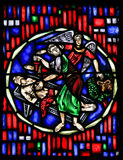 Stained Glass in Worms - Sacrifice of Isaac Royalty Free Stock Photos