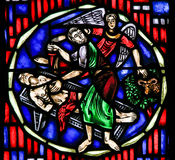 Stained Glass in Worms - Sacrifice of Isaac Royalty Free Stock Image