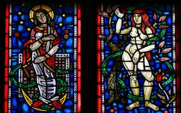 Stained Glass in Worms royalty free stock image