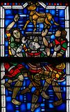 Stained Glass in Worms - Worship of the Golden Calf Royalty Free Stock Photos