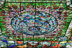 Stained-glass in Xcaret, Mexico Stock Photos