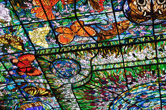 Stained-glass in Xcaret, Mexico Royalty Free Stock Photography