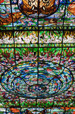 Stained-glass in Xcaret, Mexiko Stockbilder