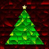 Stained glass Xmas Tree Royalty Free Stock Photography