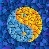 Stained Glass Yin Yang Royalty Free Stock Image