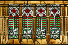 Stained glass, Zagreb cathedral royalty free stock image