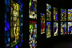 Stained glasses in Museo del Duomo of Milan Stock Photography