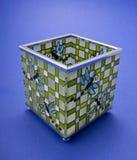 Stained-glasskerzehalterung Stockfoto