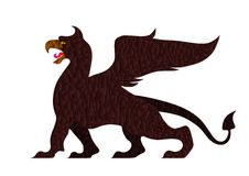 Stained griffin - cdr format Royalty Free Stock Image