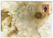 Stained grunge envelop Royalty Free Stock Photos
