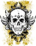 Stained grunge skull illustration Stock Images
