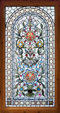 Stained lead window. Stained colorful lead window with floral motif royalty free stock images