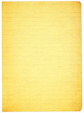 Stained lined paper Stock Images