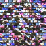 Stained mirror glass Stock Image