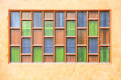Stained multi Color glass window Royalty Free Stock Images