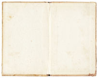 Stained open book on white background. Old stained open book on white background Royalty Free Stock Image