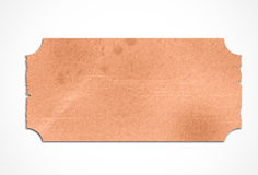 Stained orange paper label Stock Photography