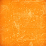 Stained orange plaster wall Stock Photography