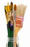 Stained paint brushes Royalty Free Stock Photography