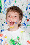 Stained paint without teeth Royalty Free Stock Photo